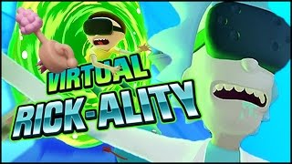 RICK FORCES MORTY CLONE TO DO LAUNDRY | Rick and Morty Virtual Rickality (HTC Vive Virtual Reality)