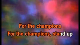 Stand Up For The Champions Karaoke   Right Said Fred   Download the Video Karaoke
