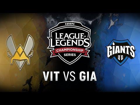 VIT vs. GIA - Week 6 Day 1 | EU LCS Spring Split |  Team Vitality vs. Giants Gaming (2018)