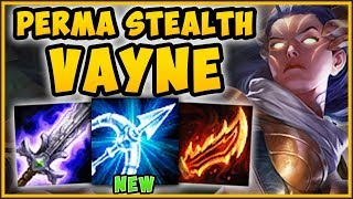 WTF! NEW VAYNE R BUFF GIVES PERMA INVISIBILITY? NEW VAYNE SEASON 9 TOP GAMEPLAY! - League of Legends