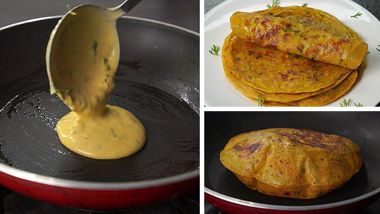 10 Min. Masala Paratha Recipe With Liquid Dough | No Kneading No Rolling Paratha Recipe | Toasted