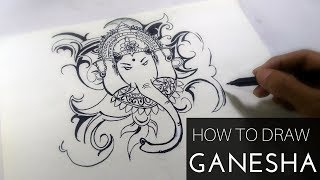 creative easy drawing draw ganesha