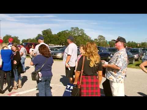Trump Rally Tampa Entrance Line Growing!