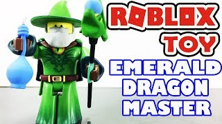 🎩 Emerald Dragon Master - Action Series 3 Toy Pack - Roblox Toys Unboxing 😄