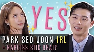 Park Seo Joon Narcissistic Brat?! | What's Wrong With Secretary Kim? Exclusive Interview