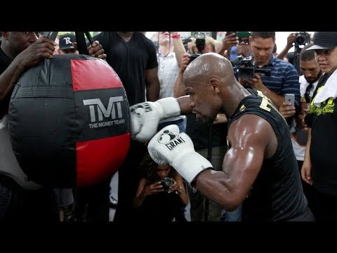 FULL & UNCUT - FLOYD MAYWEATHER'S MEDIA WORKOUT FOR CONOR MCGREGOR