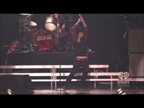 Green Day Freak Out Meltdown  at iHeartRadio Music Festival 2012