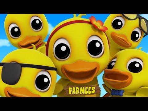 Five Little Ducks | Duck Song | Nursery Rhymes | Kids Songs | Baby Rhymes by Farmees S02E129