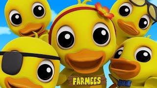Five Little Ducks | Duck Song | Nursery Rhymes | Kids Songs | Baby Rhymes by Farmees