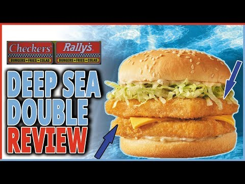 Deep Sea Double Review - Fish Sandwich From Checkers And Rally's