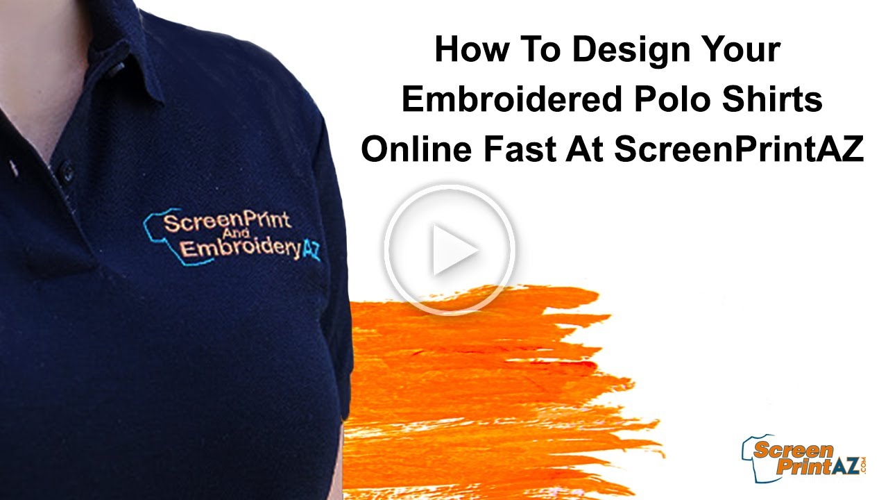 How To Design Your Embroidered Polo Shirts Online Fast At