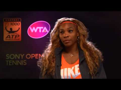 Sony Open Tennis Interview with S Williams 3-25