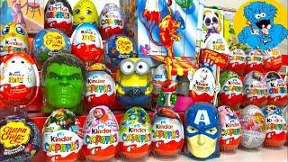 Киндер Сюрпризы,Unboxing Kinder Surprise Ми-ми-мишки,Мстители,Disney Cars 3,Маша и Медведь,Rare!