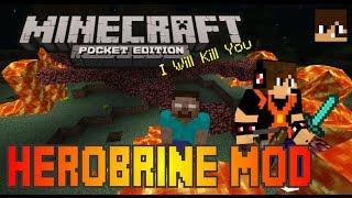 El Regrso de HEROBRINE Mod Para Minecraft Pe 0.9.5