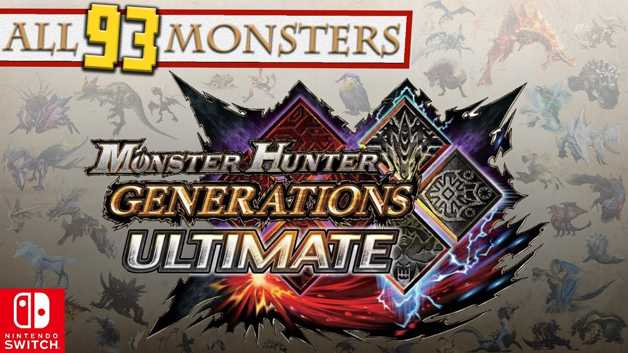 Monster Hunter Generations Ultimate All 93 Monsters Youtube