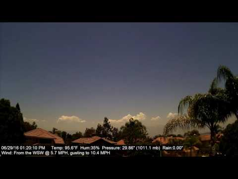 Chino Hills Time-Lapse 6/29/16