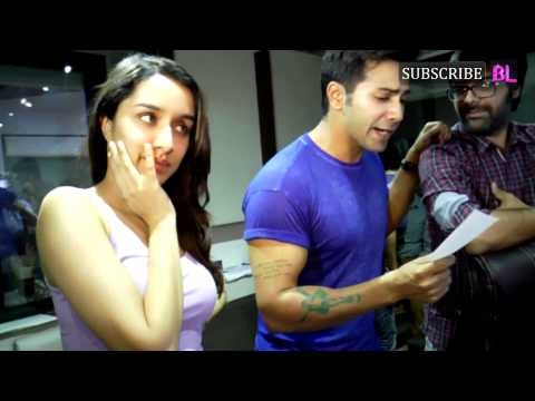 Shraddha Kapoor and Varun Dhawan record the unplugged version of Bezuban for ABCD 2