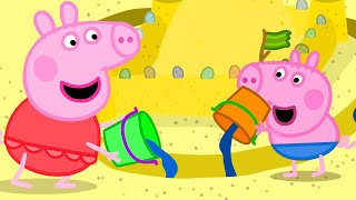 Peppa Pig Official Channel | Peppa Pig Makes the Best Sand Castle