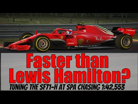 Chasing Lewis Hamilton's Spa Record in the SF71H F1 Mod Car