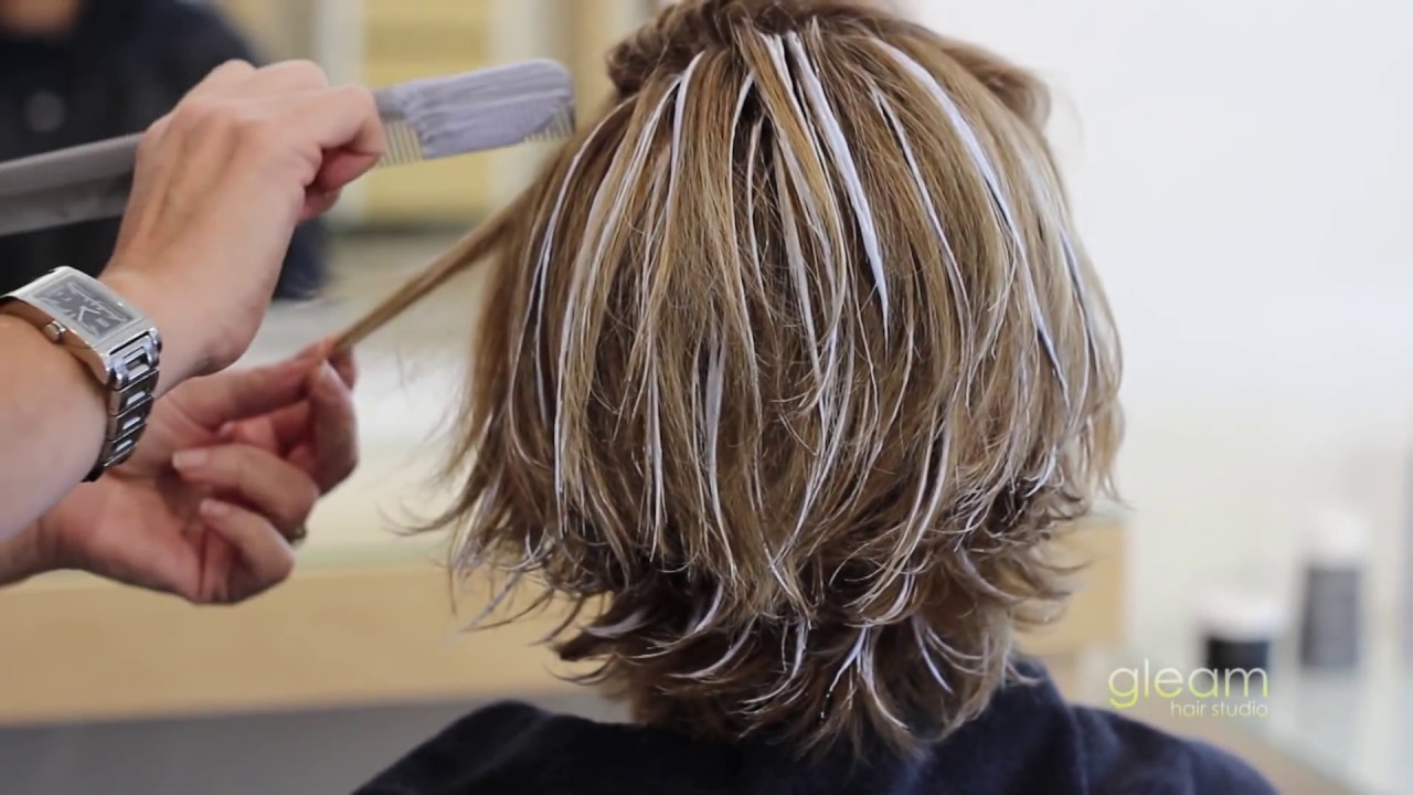 Balayage Highlight Short Hair - Gleam Hair Studio - Miami - - YouTube