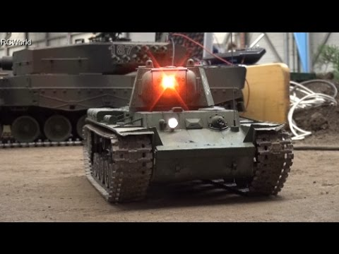 RC Tank KV-1 Red Army КВ-1 KW-1 Panzer ♦ Erlebniswelt Modellbau Erfurt 2016 Modellbaumesse