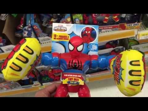 """MARVEL""""Masters of Kapow - SPIDERMAN"""" Punching Action Figure with Soft Fists / Toy Review"""