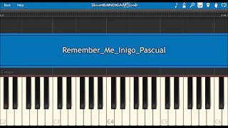Download lagu Remember Me Inigo Pascual Disney Coco Synthesia Piano Tutorial