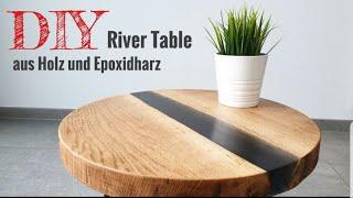 TUTORIAL: Wie man einen River Table aus Holz und Epoxidharz baut / DIY Epoxy Resin Table