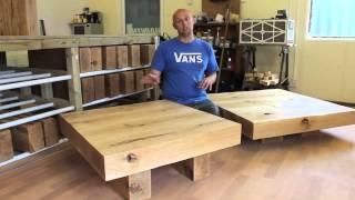 Square Oak Table from TarzanTables.co.uk