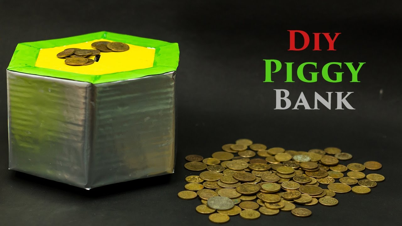 Diy piggy bank youtube for Diy piggy bank