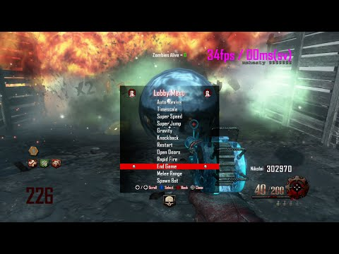 Most Stable BO2 Zombies Mod Menu