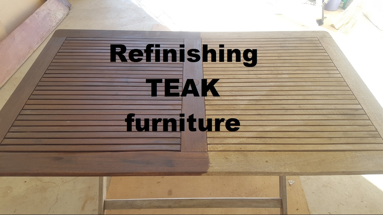 Superbe Refinishing Teak Furniture   YouTube