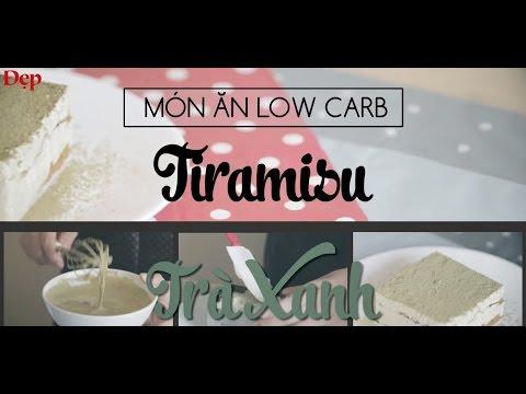 Tiramisu trà xanh low carb cực hấp dẫn (Low carb recipes)