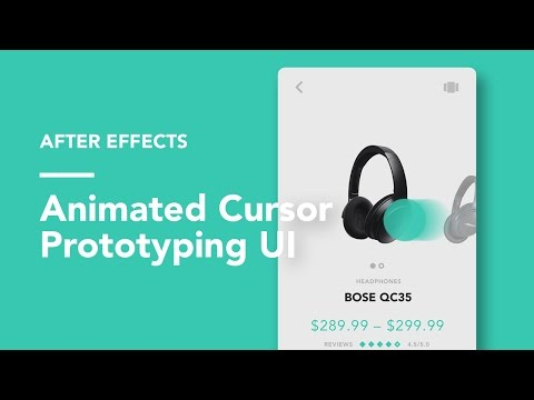 After Effects: Animated Cursors UI Prototyping