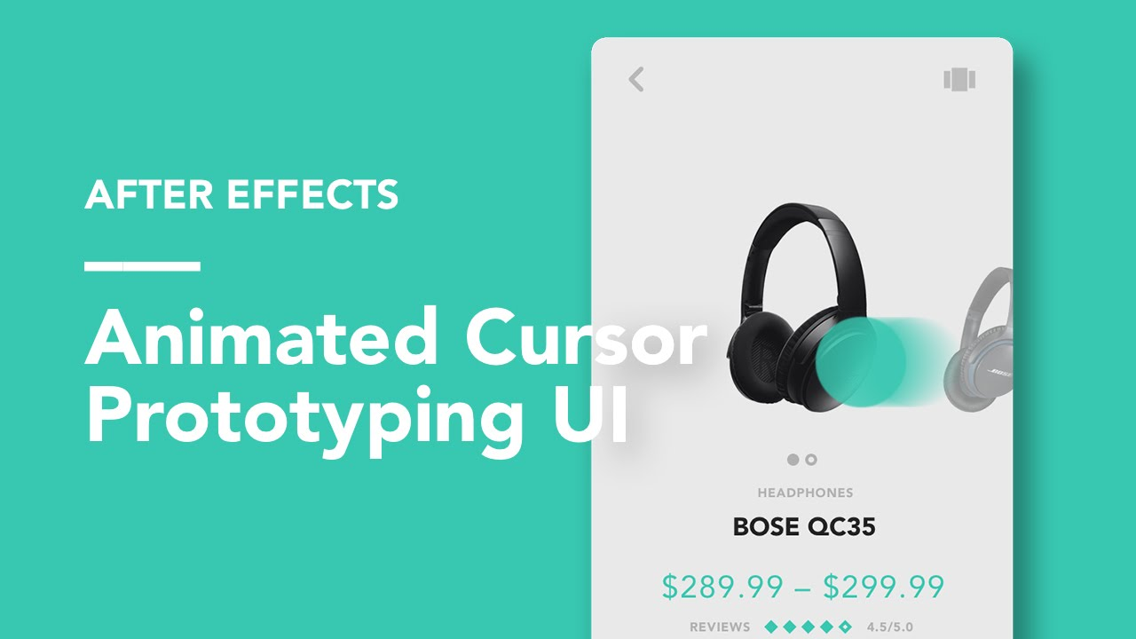 After Effects: Animated Cursors UI Prototyping by Ryan Duffy