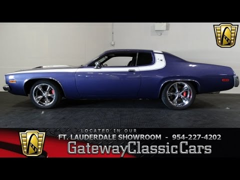 1974 plymouth satellite gateway classic cars of fort lauderdale