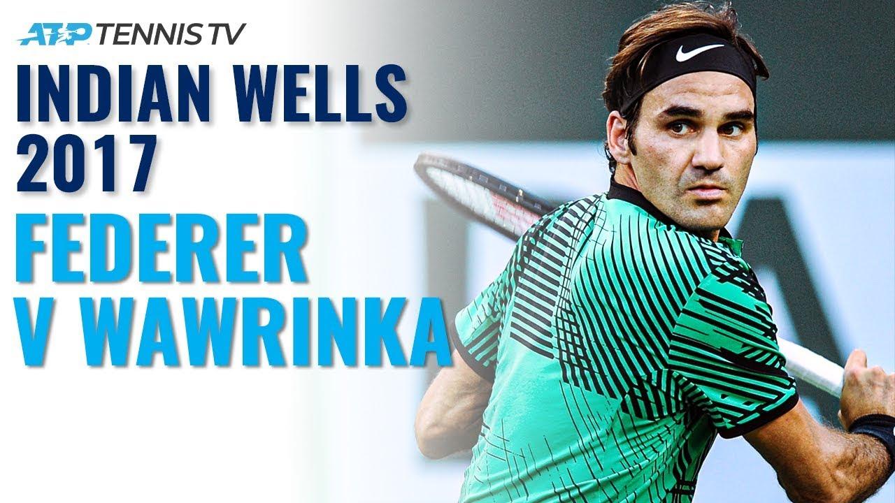 Classic Tennis Highlights: Federer v Wawrinka   Indian Wells 2017