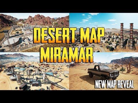 PLAYERUNKNOWN'S BATTLEGROUNDS NEW DESERT MAP MIRAMAR REVEAL!! NEW GUNS! NEW CARS! PUBG LIVE! thumbnail