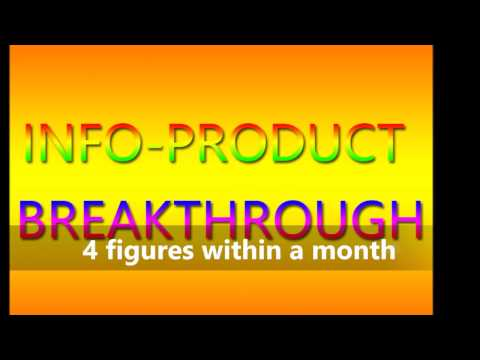 Info Product Breakthrough Review - This system creates thousands