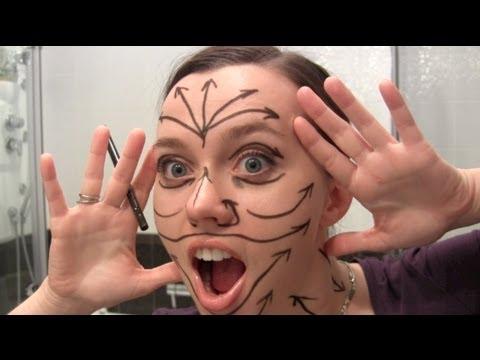 Массажные линии на лице / Face