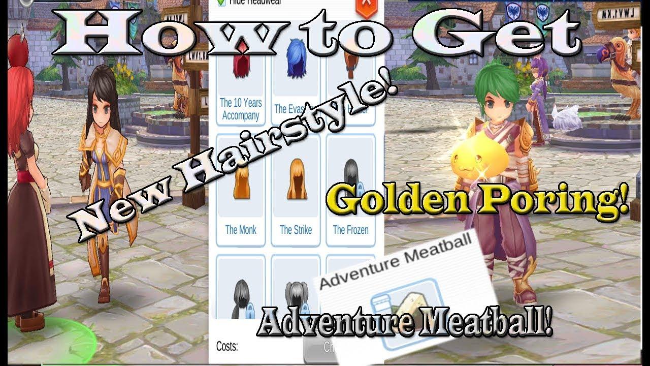 ragnarok eternal love hairstyle adventure meatball golden poring