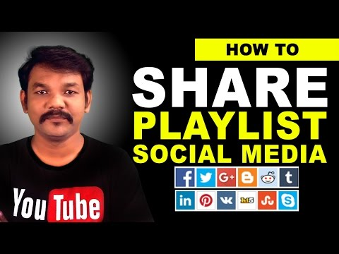 How to Share A Playlist on YouTube to Social Media