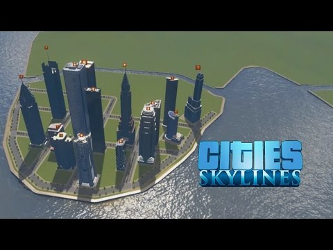 Cities: Skylines - County Building - Part 11: Canals and Skyscrapers!