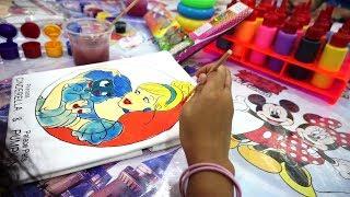 Belajar Mewarnai Cinderella + Hello Kitty Di Baju 💖 Bagus Jessica apa Jenica??? komen ya...