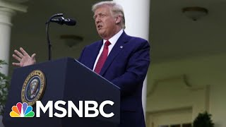 Trump Gives Subdued, Rambling Campaign-Style Speech In Rose Garden   The 11th Hour   MSNBC