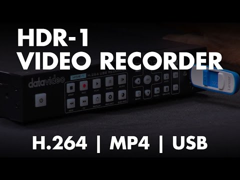 Introducing: Datavideo HDR-1 H 264 MP4 Video Recorder with HDMI Input