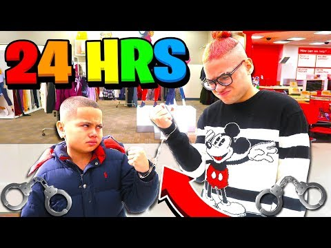 24 HOURS HANDCUFFED to My Little BROTHER CHALLENGE!!! **Bad Idea**