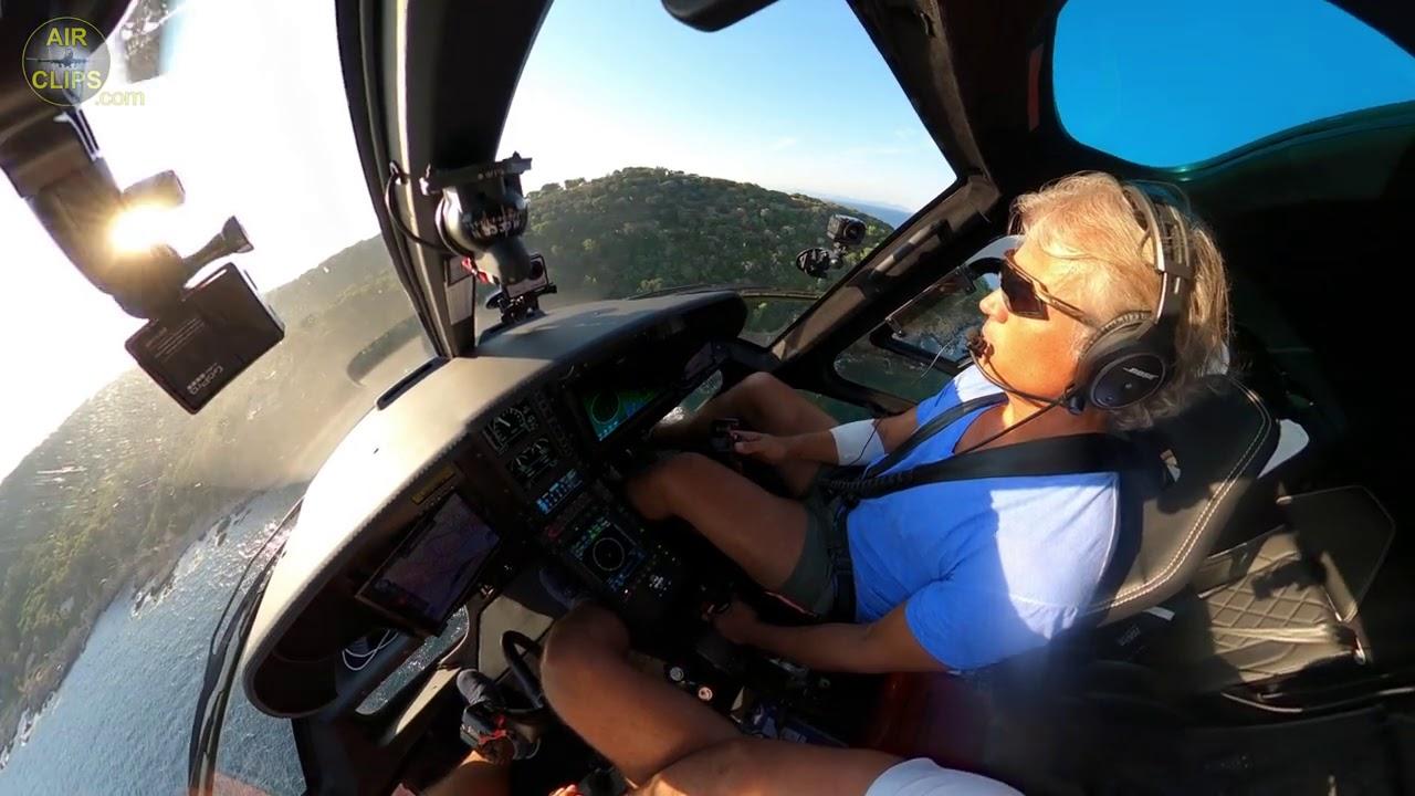 MASSIVE 4K Airbus H125 GUSTY WINDS Landing in Uli's St. Tropez Backyard!!! [AirClips]