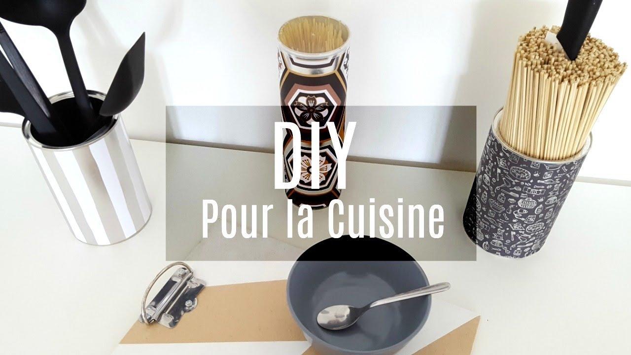 Super 4 DIY POUR LA CUISINE AVEC PRESQUE RIEN (RECYCLAGE) - YouTube BF41