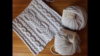 ШИКАРНЫЙ шарф или японский узор № 142 из книги 260 узоров.